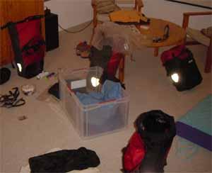 Unordnung beim Packen